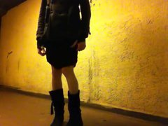 tranny public vidz flashing under  super ground