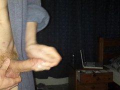 Skinny Teen vidz Jerks his  super Oiled Cock