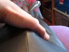 Wet look vidz leggings,wank,spank and  super cum.