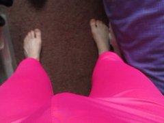 My new vidz pink shiny  super leggings and purple satin panties.