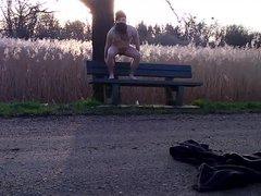 naked in vidz public park