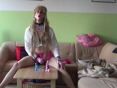 crazy mature vidz sissy with  super sexy look and mini-skirt