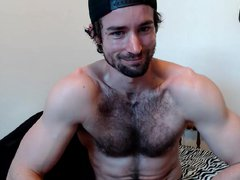 Muscle hairy vidz man jerk  super off