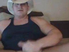 Sexy cowboy vidz unloads