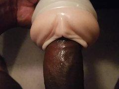 Fucking my vidz fleshlight and  super cumming on used panties