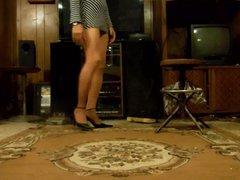 posing in vidz pantyhose