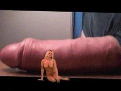 model in vidz front of  super motion bouncing penis