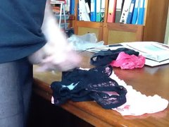 I live vidz cumming over  super Ruth's black lace panties