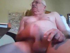 Horny mustache vidz grandpa masturbate  super hard cock