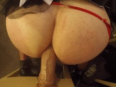 Gorgeous Thick vidz Blonde Sissy  super Maid Shows Off Her Skills