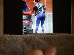 Emma Stone vidz Yoga Pants  super Ass CUM