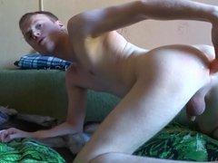 Ass fucking vidz by nice  super rubber vibro-dildo on webcam show