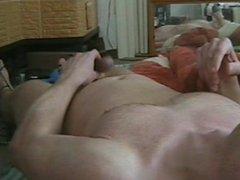 Wanking and vidz cumming on  super my belly