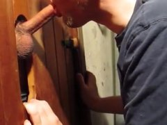 Look at vidz the great  super tongue work at the homemade glory hole