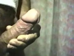 Stroking big vidz cock