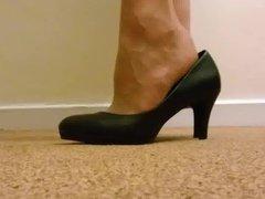 Tan stockings vidz and heels