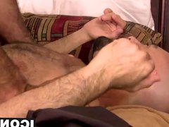 Nick teases vidz Adams hole  super with his thick cock before banging it