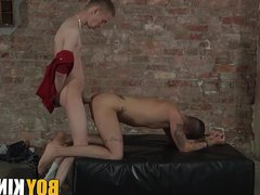 Nathan Hope vidz roped down  super as a fuck toy
