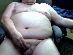 sexy grandpa vidz stroke and  super cum on cam