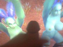 Two Orc vidz Sluts Dance  super For Cum (Orc-Slut and her friend)