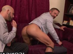 Dirk Caber vidz and Adam  super Russo ramming each other hard on the bed