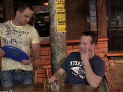 He lures vidz hetero bartender  super into gay sex
