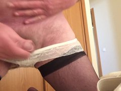 Wanking in vidz hold ups  super and panties - part 2