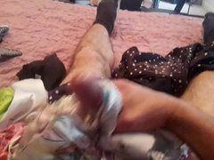 panty jerking vidz with satin  super nightie and panties