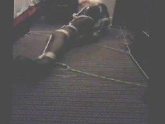 PatsyPVC Tied vidz up &  super Ballgagged in a Hotel