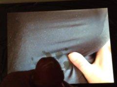 Brustfetisch's Floppy vidz Tits in  super black top -cum video by HRGA