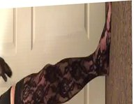 Lace stockings vidz and gloves
