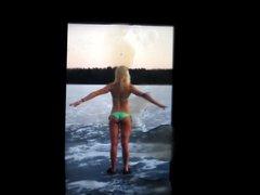 Emilia Pikkarainen's vidz ass cum  super tribute 4