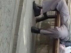 Older man vidz in public-4