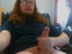 Long hair vidz cub having  super fun with his cock