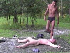 bound slave vidz white boy  super own