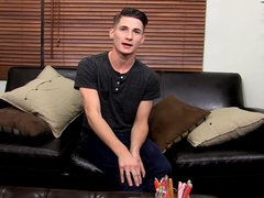 Cute nervous vidz and adorable  super twink Elijah West jerking it off