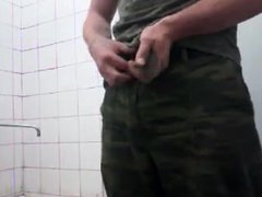 In the vidz army shower