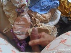 handjob and vidz cumshot on  super panties & bras . ( +slow motion )