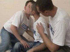 Threesome Gay vidz Love Anal  super Sex, Double Anal Felching
