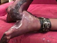Massive cum vidz load on  super my stocking feet
