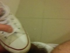 Cum On vidz Nurse's Converse  super All-Star White Shoes With At Work