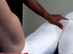 Interracial ebony vidz stud cocksucked  super and tugged