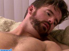 Buff hunk vidz analizing his  super passionate lover