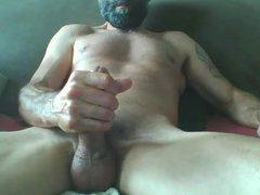 bearded mature vidz muscle hunk  super shooting a huge load