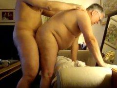 grandpa getting vidz cum over  super belly after beeing fucked