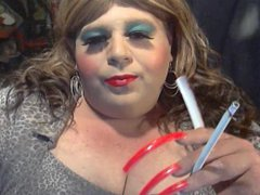 BBW SISSY vidz DIANE XTRA  super LONG SMOKE XTRA LONG NAILS