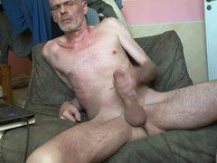 Naked Man vidz stroking his  super Cock
