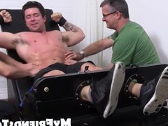Trenton gets vidz cock pits  super and feet tickled