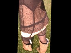 lingerie flash vidz in public  super park