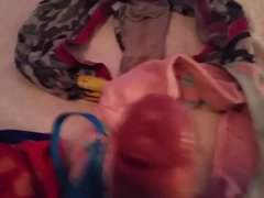 cum on vidz Step daughters  super dirty panties